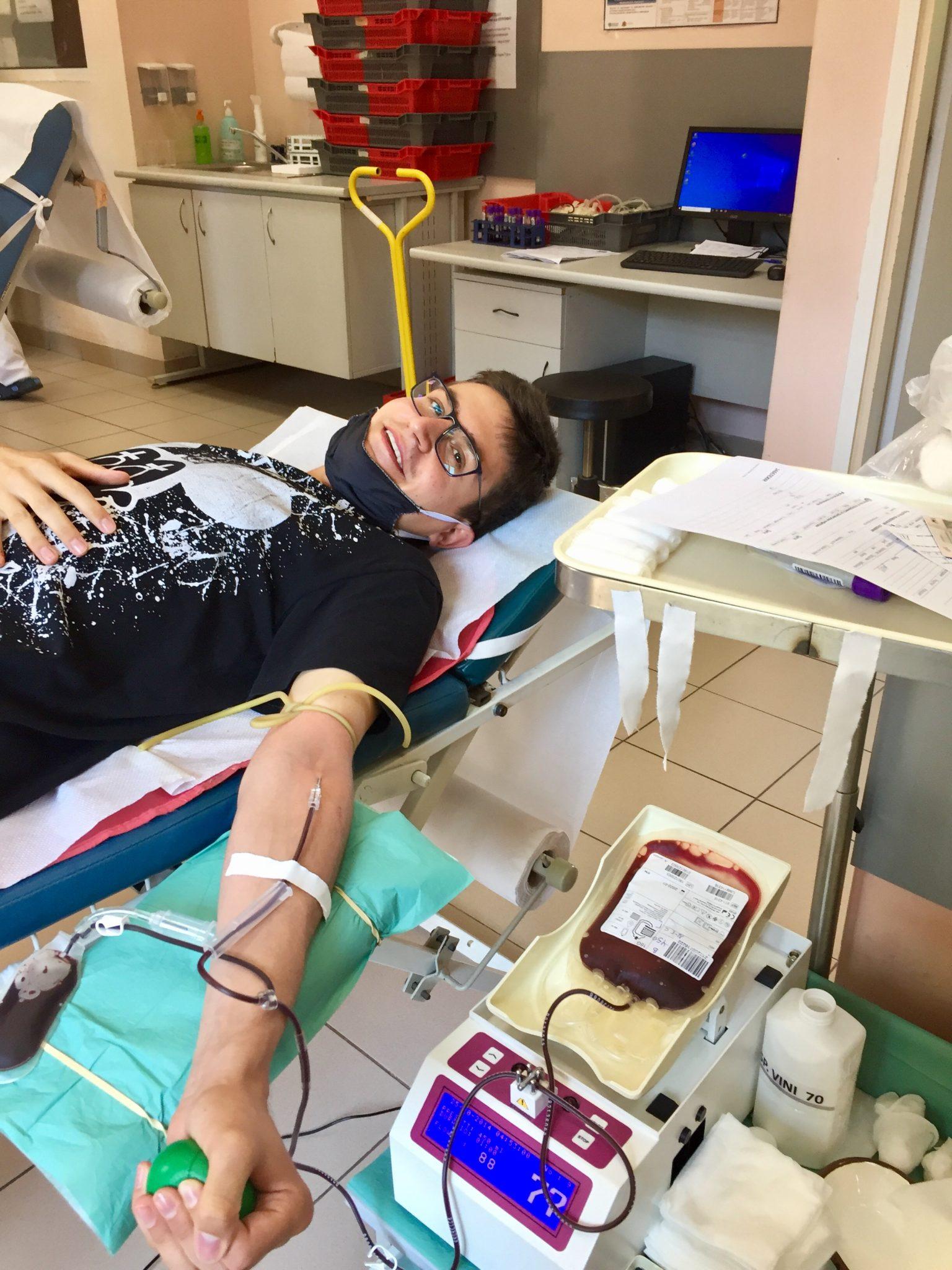 Мимо Гарсия дарява кръв на 5-ти август 2020 година